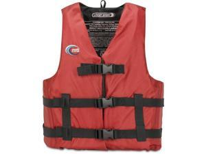 MTI Adventurewear Livery Sport PFD Life Jacket (Red-X-Large/XX-Large) - MTI Adventurewear