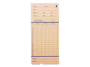 Pyramid 42415 Time Card for Model 2600, Monthly, 3-3/8 x 7-7/16, Two-Sided, 100/Pack