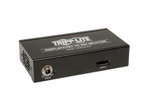 Tripp Lite 2-Port DisplayPort 1.2 to DVI Multi-Stream Transport (MST) Hub, 3840x1200 at 60Hz (B156-002-DVI)