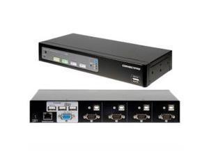ConnectPRO - 4PORT USB  KVM SWITCH VGA WITH DDM & ACTIVE DDC