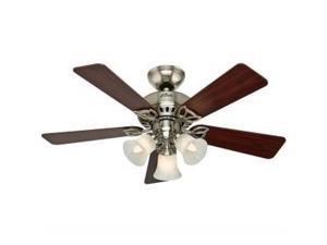 53079 42 in. Beacon Hill Brushed Nickel Ceiling Fan with Light