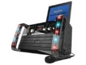 Akai Ks-213 Cd+g Karaoke Player With Ipad(r)/ipod(r) Cradle & Light Effect
