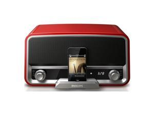 RADIO DOCK SPKR SYST FOR IPHONE/IPOD CHILI RED ORD7100R/37