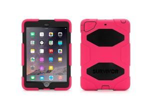 Pink/Black Survivor All-Terrain Case for iPad mini, iPad mini 2, & iPad mini 3,Military-duty case with stand-Touch ID Compatible