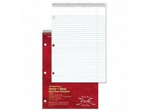 "Rediform 31192 National Porta-Desk 3-Subject Notebook 120 Sheet - 8.50"" x 11.50"" - 1 Each - White Paper"