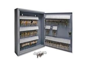 "Secure Key Cabinet, Key Lock, 14""x3""x17-1/8"", 110 Keys, GY"