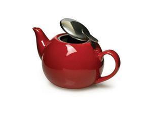 Primula PTCRE-5224-T Red Ceramic Teapot w Infuser
