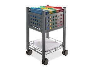 Sidekick File Cart One-Shelf 13 3/4w x 15 1/2d x 26 1/4h Matte Gray