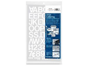 Chartpak CHA01036 Vinyl Numbers-Letters- 1in.- White