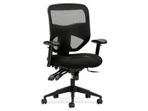 Basyx by HON Executive Task Chair Polyester Black, Fabric Seat - Polyester Black Back