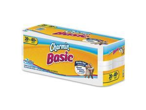 Procter and Gamble 85986 Basic Big Roll, 1-Ply, White, 264 Sheets Per Roll, 20 Rolls/Pack