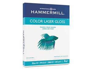 Color Laser Gloss Paper 94 Brightness 32lb 8-1/2 x 11 White 300 Sheets/Pack