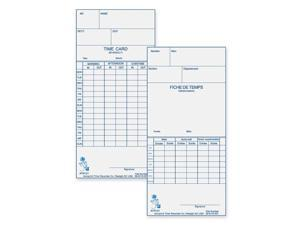 Time Card for Model Atr120 Electronic Clock Weekly or Biweekly 250/Pack