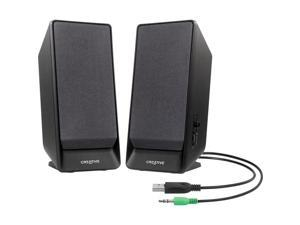 Creative A50 USB / 3.5mm Desktop 2.0 Speaker System, 51MF1675AA002
