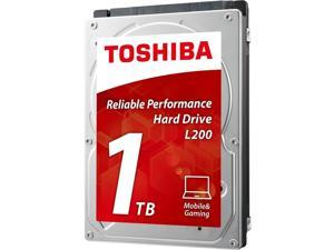 "TOSHIBA L200 HDWJ110XZSTA 1TB 5400 RPM 8MB Cache SATA 3.0Gb/s 2.5"" Notebook Internal Hard Drives Retail Packaging"