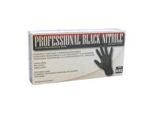 SAS Safety 66544 Professional Black Nitrile Gloves Xlarge
