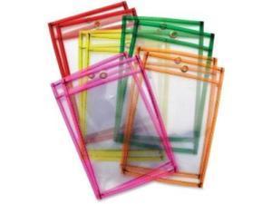 "Dry-Erase Pockets 6'x9"" 10Sh/ST Neon/Ast"