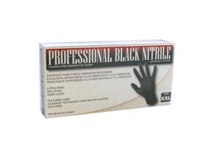 SAS Safety 66543 Professional Black Nitrile Gloves Large