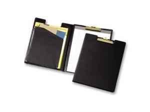 "Cardinal 252610 Sealed Vinyl Clip Padfolio, Letter - 8 1/2"" x 11"" Sheet Size - 100 Sheets Capacity, Black - 1 Each"