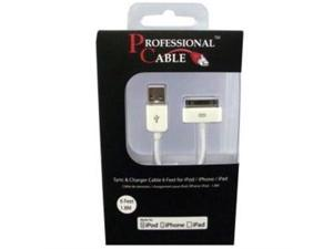 Professional Cable ICABLE White Sync/Charge Cable for iPod / iPhone / iPad