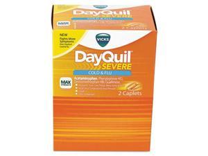 Cold & Flu Caplets, Daytime, Severe Cold & Flu, 25 Packs/Box BXDXSV25