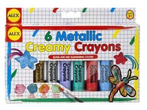 Metallic Creamy Crayons with Brush by Alex Toys