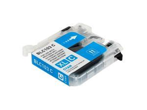 Compatible Cyan High Yield  Ink Cartridge for Brother LC-103C MFC-J245, MFC-J285DW, MFC-J450DW, MFC-J470DW, MFC-J475DW, MFC-J650DW, MFC-J6520DW, MFC-J6720DW, MFC-J6920DW, MFC-J870DW, MFC-J875DW