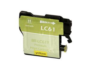 Compatible Yellow Inkjet Cartridge for Brother LC61Y DCP 165C / 385C / 585CW / J125 / MFC 250C / 255CW / 290C / 295CN / 490CW / 495CW / 5490CN / 5890CN / 5895CW / 6490CW / 6890CDW / 790CW / 795CW / 99