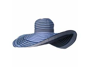 "Blue Two-Tone Floppy Hat With 7"" Shapeable Brim"