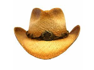 Distressed Cowboy Hat With Pistol Hatband