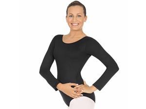 Microfiber Adult Black Long Sleeve Leotard