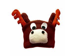 Brown Reindeer Face Animal Character Headband