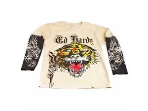 Children's Ed Hardy Tattoo Tiger Print Long Sleeve Kids Layered T-Shirt