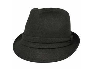 Brown Gabardine Unisex Fedora Hat