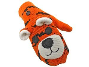 Orange & Black Tiger Animal Gloves