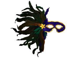 Masquerade Mardi Gras Feather Eye Mask Purple