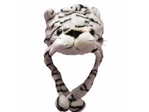 White Tiger Plush Animal Warm Winter Hat