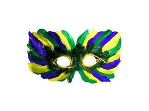 Eye Framing Yellow Purple Green Mardi Gras Mask