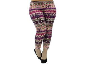 Purple Plus Size Holiday Hacci Footless Leggings