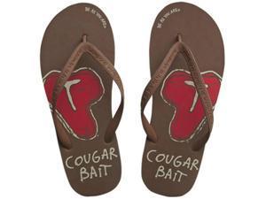 Cougar Bait Men's Brown Comfy Flip Flops
