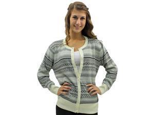 Black White & Gray Aztec Tribal Button Down Sweater