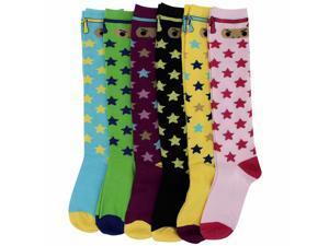 Ninja Stars Knee-High 6 Pack Socks