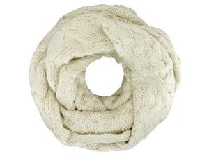 Beige Oversize Chunky Cable Knit Infinity Scarf