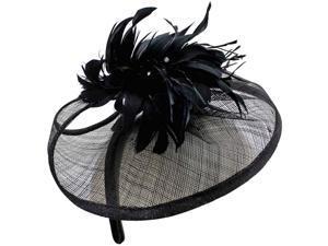 Black Sinamay Fascinator Headband
