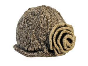 Brown Beautiful Crochet Knit Beanie Cap Hat