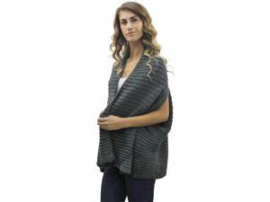 Charcoal Gray Heavy Knit Shrug Sweater Shawl