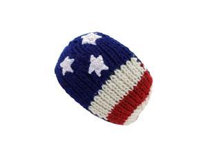 Winter Knit American Flag Red White Blue Head Band