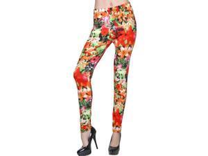 Tropical Floral Print Leggings