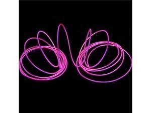 3M Pink Flexible Neon Light EL Wire Rope Tube with Controller