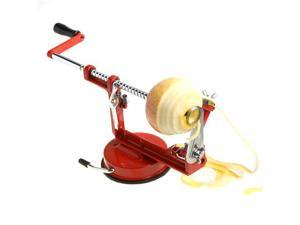 3 in 1 Stainless Steel Fruit Apple Pear Peeler Corer Slicer Suction Base Red